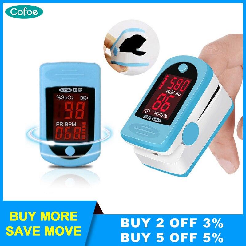 Cofoe Finger Pulse Oximeter Medical Digital LED Pulse Oximetro Blood Oxygen Heart Rate Meter  SPO2 PR Oximetro Finger De Dedo