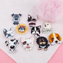1pc Fashion Hot Funny Charm Brooch Cute Cartoon Husky Labrador Pet Dog Shaped Badges Corsage Decorated Pins Women Girls Brooches