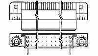 Hdi recp assy 3 행 210 pos te 1-532431-1 AMP-HDI 커넥터