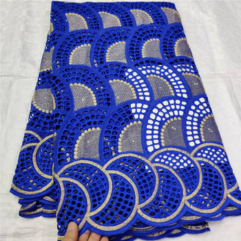 Swiss lace fabric 2019  embroidery African lace fabrics 100% cotton Dry lace Swiss voile lace in Switzerland 1L12056