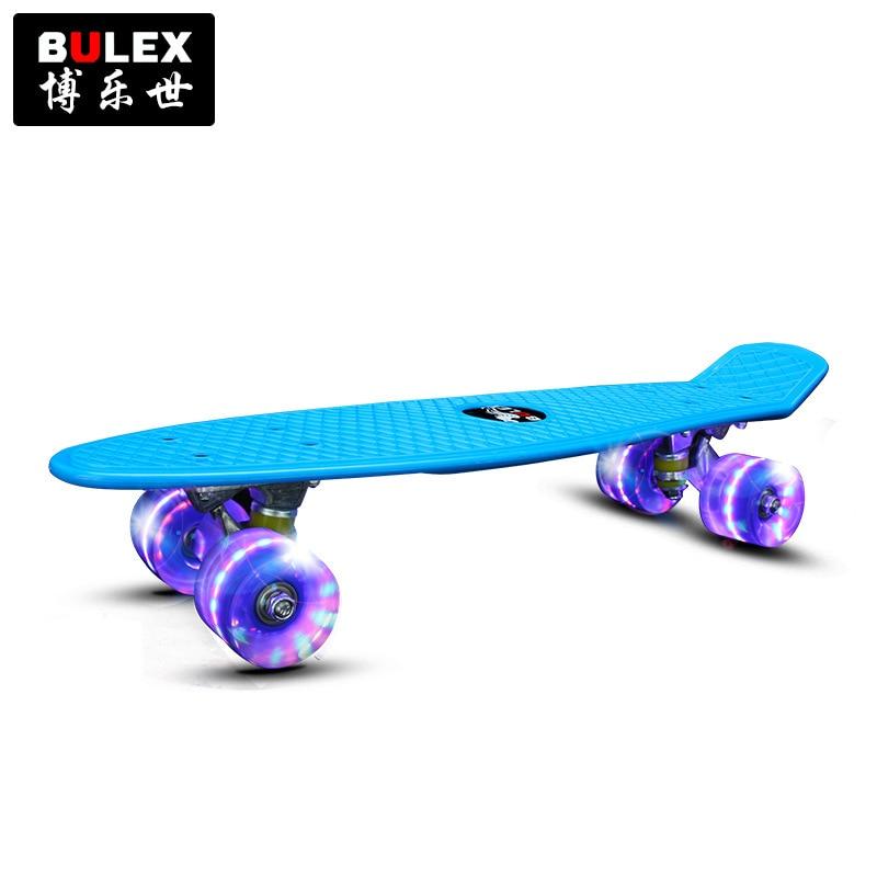 Cross Border Electricity Supplier Bulex Amazon Hot Selling Banana Fish Skateboard Four Wheel Skateboard Children Skateboard Manu