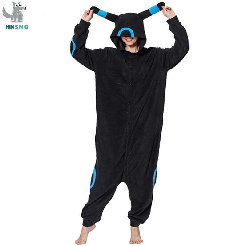HKSNG New Animal Adult Pokemon Umbreon Pajamas Cartoon Espeon Onesies Cosplay Costumes Unisex Sleepwear Christmas Gift Kigurumi
