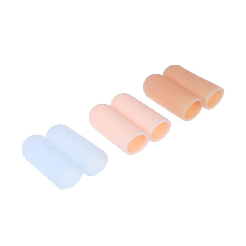 2 szt. Żelowa obudowa z silikonu czapka ulga w bólu zapobieganie pęcherzom palec u nogi Protector