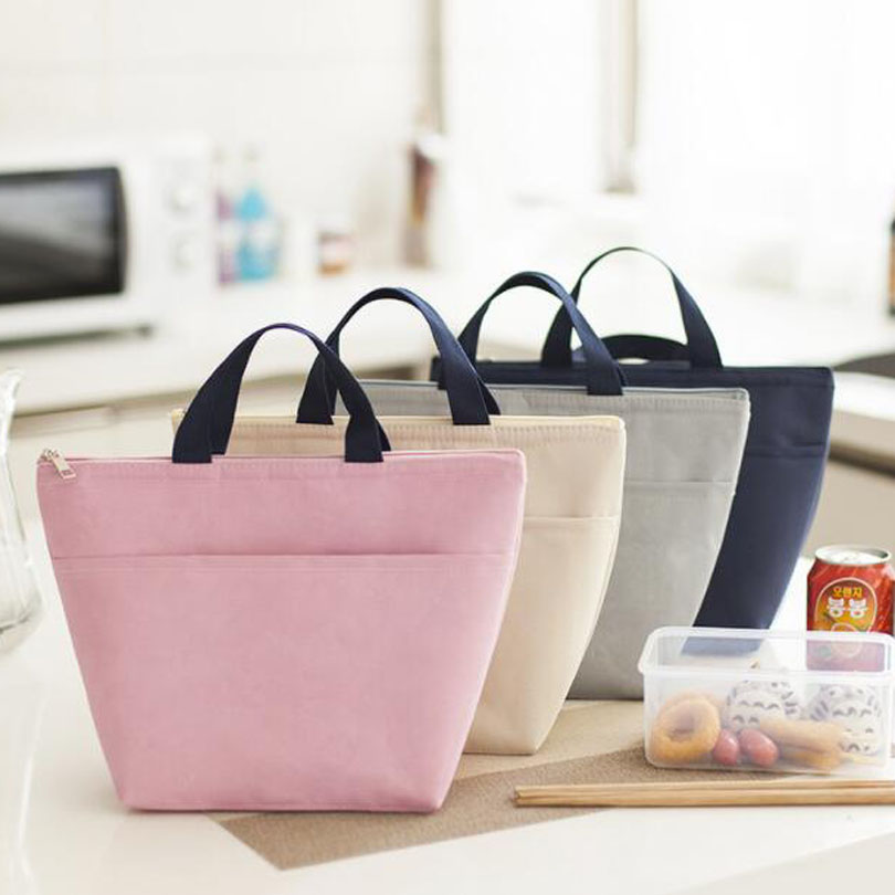 Functional Pattern Big Capacity Cooler Lunch Box Portable Insulated Canvas Lunch Bag Thermal Food Picnic Lunch Bags For Women