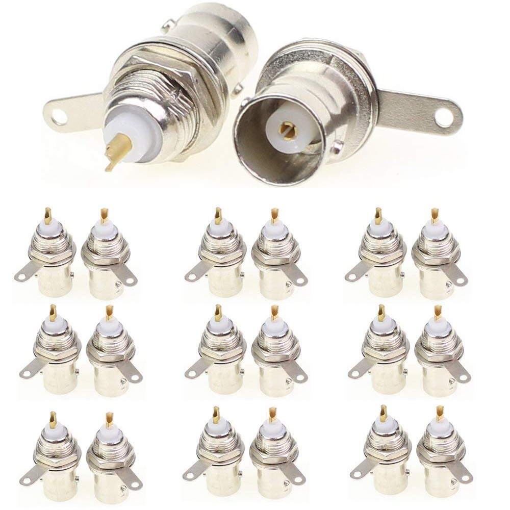 10 Pcs Soldering Twist Spring BNC Connector Jack For Coaxial RG59 Cable CCTV Camera System Available For HD AHD  CVI TVI Cameras