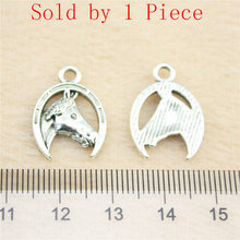 Sales Retail 1 Piece 20x15mm Horse And Horseshoe Charms Charm Bracelet Gifts For Men(China)