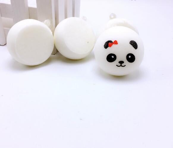 7CM Squishy Panda Bun Stress Reliever Ball Slow Rising Decompression Toys PU Key chains Keychain Kids Toys 3