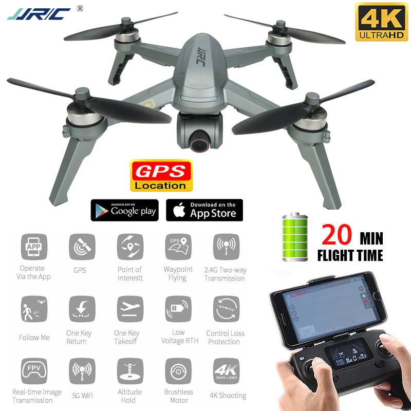 JJRC X5P Drone 4K Gps Professional Rc Quadcopter Fpv 5G WiFi Follow Me Selfie Brushless Quadrocopter Adjustable Camera Dron image