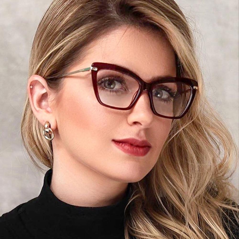 Belmon Cat Eye Spectacle Frame Women Eyeglasses Computer Prescription Optical For Female Eyewear Clear Lens Glasses Frame 95194