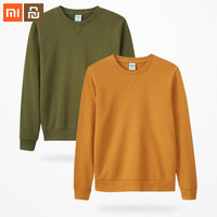 Xiaomi mijia MITOWNLIFE cotton classic round neck sweater 100% cotton easy to take autumn men's slim long sleeved smart home