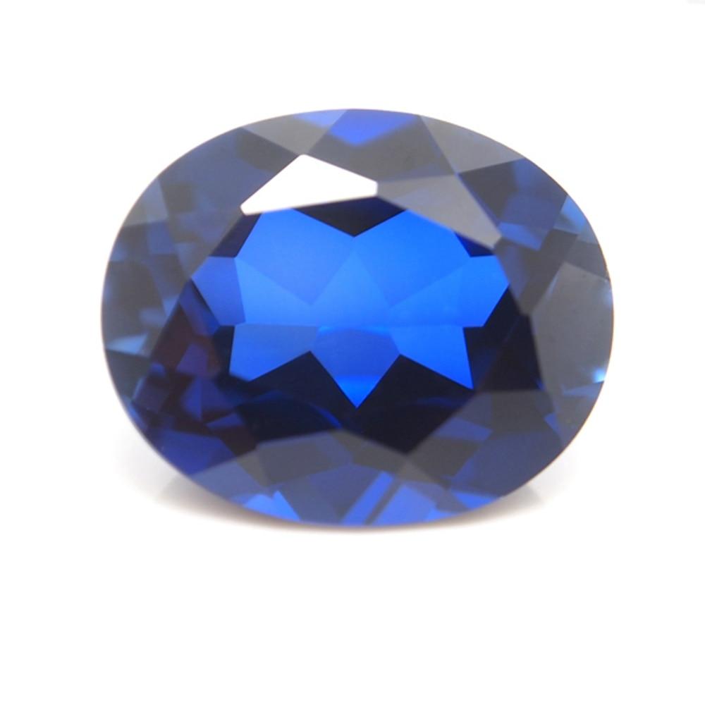 12*16mm 2 Piece /alot Top Quality Oval Cut Royal Blue Sapphire Loose Gemstone