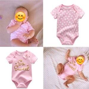 Image 5 - 新生児ボディスーツ 8 ピース/ロット綿レースデザイン印刷夏bodys服roupasデベベスーツ女の服