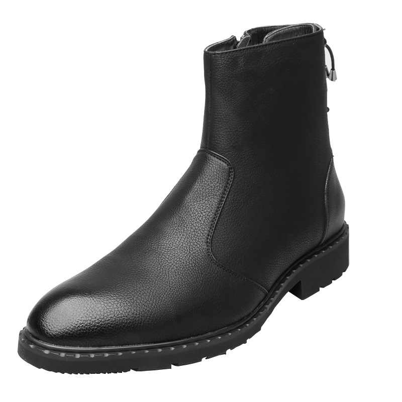 Mens casual punk nachtclub jurk lange laarzen koe lederen schoenen jeugd gentleman shorts enkellaars zapatos de hombre bota masculina