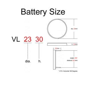 Image 4 - Lithium Button Coin Batterijen Oplaadbare Batterij VL2330 Met 2 Pin Horizontale 180 Graden 2330 Voor Land Rover Afstandsbediening Sleutel