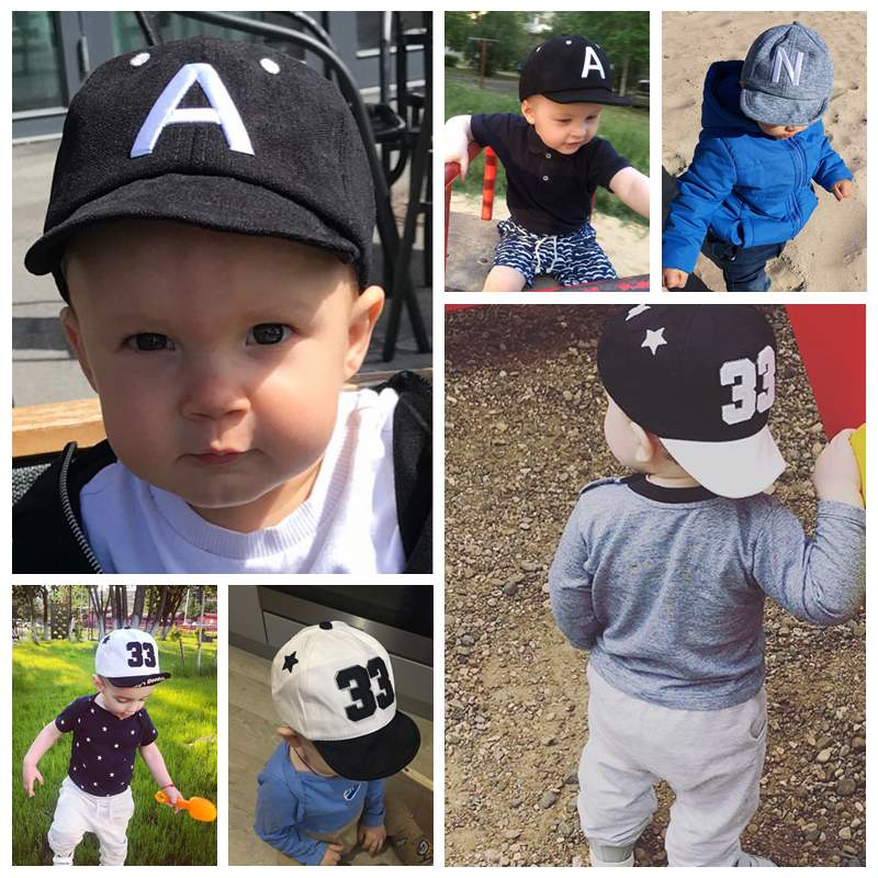 Baby Boy Hat Letter Toddler Baby Baseball Cap Cotton Adjustable Visor Sun Hat Kids Girls Peaked Caps Summer Spring