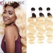 Блонд прямые перуанские волосы пряди 1/2 шт Омбре блонд 1b 613