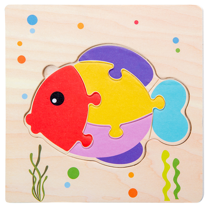 Baby Toys Wooden 3d Puzzle Tangram Shapes Learning Cartoon Animal Intelligence Jigsaw Puzzle Toys For Children Educational 12