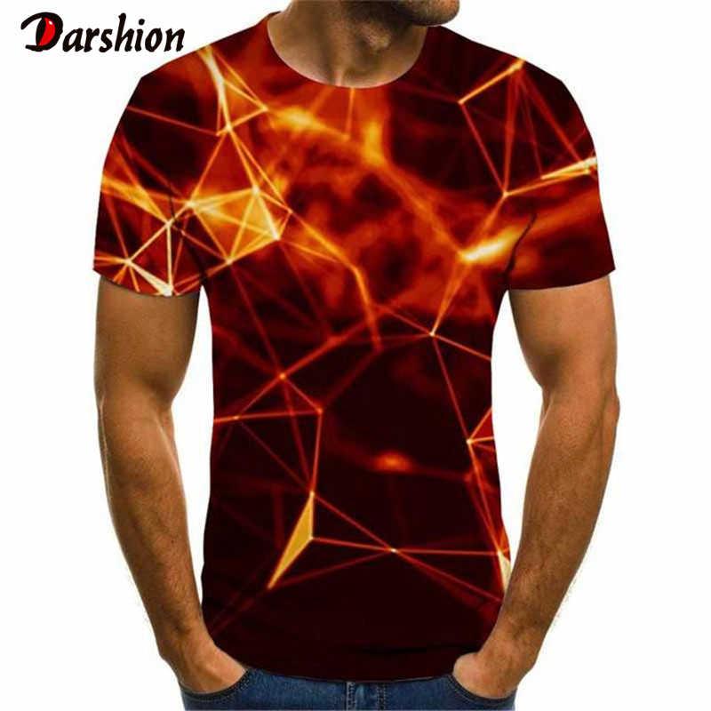 3D เปลวไฟสีแดงพิมพ์ TShirt ผู้ชายผู้หญิงฤดูร้อน Casual สั้นแขนสะโพก Hop เสื้อผ้าแฟชั่นเปลวไฟพิมพ์เสื้อ T ฤดูร้อนเสื้อ