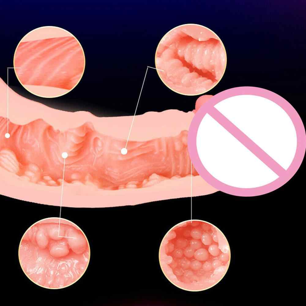 Dildo Con Il Real Vaginale Doppio Stimolo Climax Morbido Realistico Realistico Dildo Giocattolo Adulto Figa Masturbatore Giocattolo Del Sesso Per Le Coppie