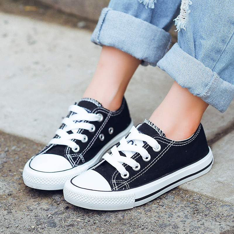 Children Causal Canvas Cute And Fashion Girls Candy Shoes Boys Soft Beef Tendon Bottom Shoes Comfortable Parent-child Shoes