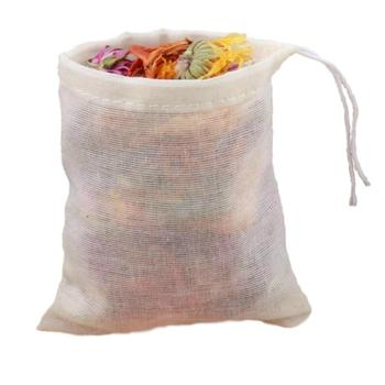 Cheesecloth Bags Nut Milk Strainer Cotton Muslin Bags Mesh Food Bags For Yogurt Coffee Tea Juice Wine Supplies image