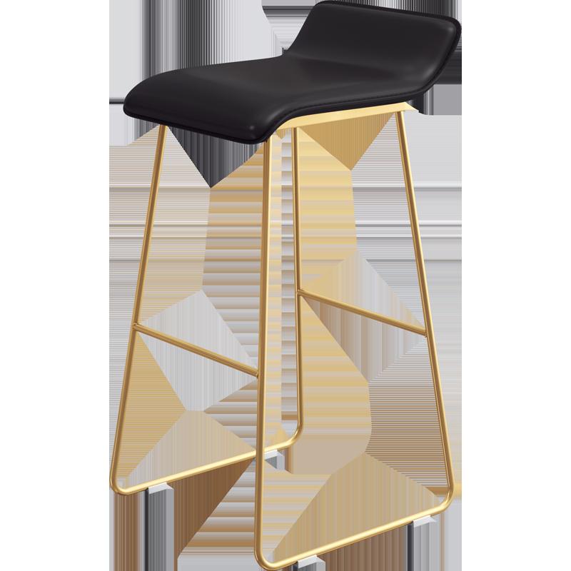 Northern Europe Bar Chair Fashion Simple Iron Bar Chair Modern Coffee Bar Chair Front Desk Stool Bar High Chair
