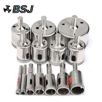 цена на 15pcs Diamond Coated Drill Bit Set Tile Marble Glass Ceramic Hole Saw Drilling Bits For Power Tools 6mm-50mm