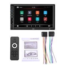 цена на Auto Radio 2 Din Car Radio 7' HD Bluetooth Multimedia Player 2DIN Touch Screen Auto Audio Car Stereo MP5 Bluetooth USB TF FM