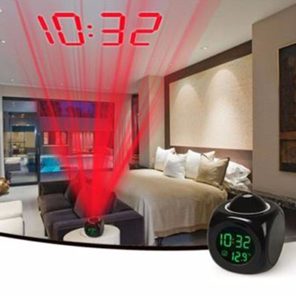 new LCD Projection Voice Talking alarm clock backlight Electronic Digital Projector Watch desk Temperature display table clock