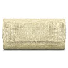 Флеш-материал, ткань, прямоугольная Женская вечерняя сумка, однотонный модный кошелек-клатч, большая емкость, ремешок на цепочке, сумка через плечо