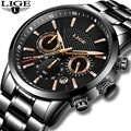 LIGE 2018 นาฬิกาผู้ชายแฟชั่นนาฬิกาควอตซ์ Mens นาฬิกาแบรนด์หรูธุรกิจนาฬิกากันน้ำ Relogio Masculino