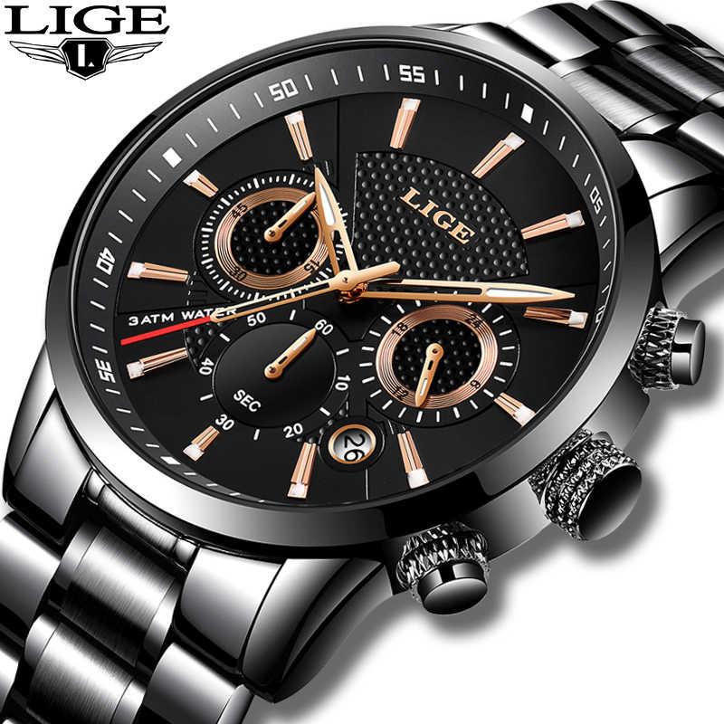 LIGE 2018 Watch Men Fashion Sport Quartz Clock Mens Watches Brand Luxury Full Steel Business Waterproof Watch Relogio Masculino