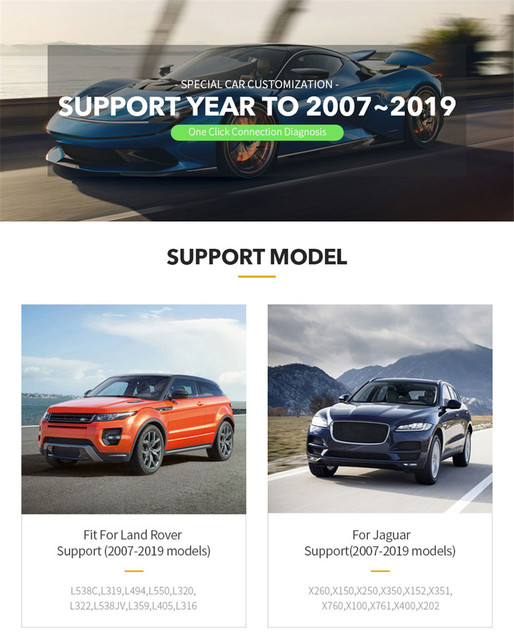 Outil de Diagnostic de voiture VXDIAG VCX SE JLR pour les modèles 2007-2019 prend en charge le logiciel SDD et Pathfinder