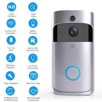 M3S Wireless Wi Fi Video Door Bell Doorbell Smart Home IP Door Bell Camera Alarm Security Night Vision Go Visual Ring Intercom 3