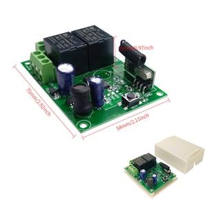 Image 5 - GERMA interruptor con Control remoto para control remoto, módulo de relé Universal de 24V, 2 retardo de 433MHz, 5 30V, 2 canales