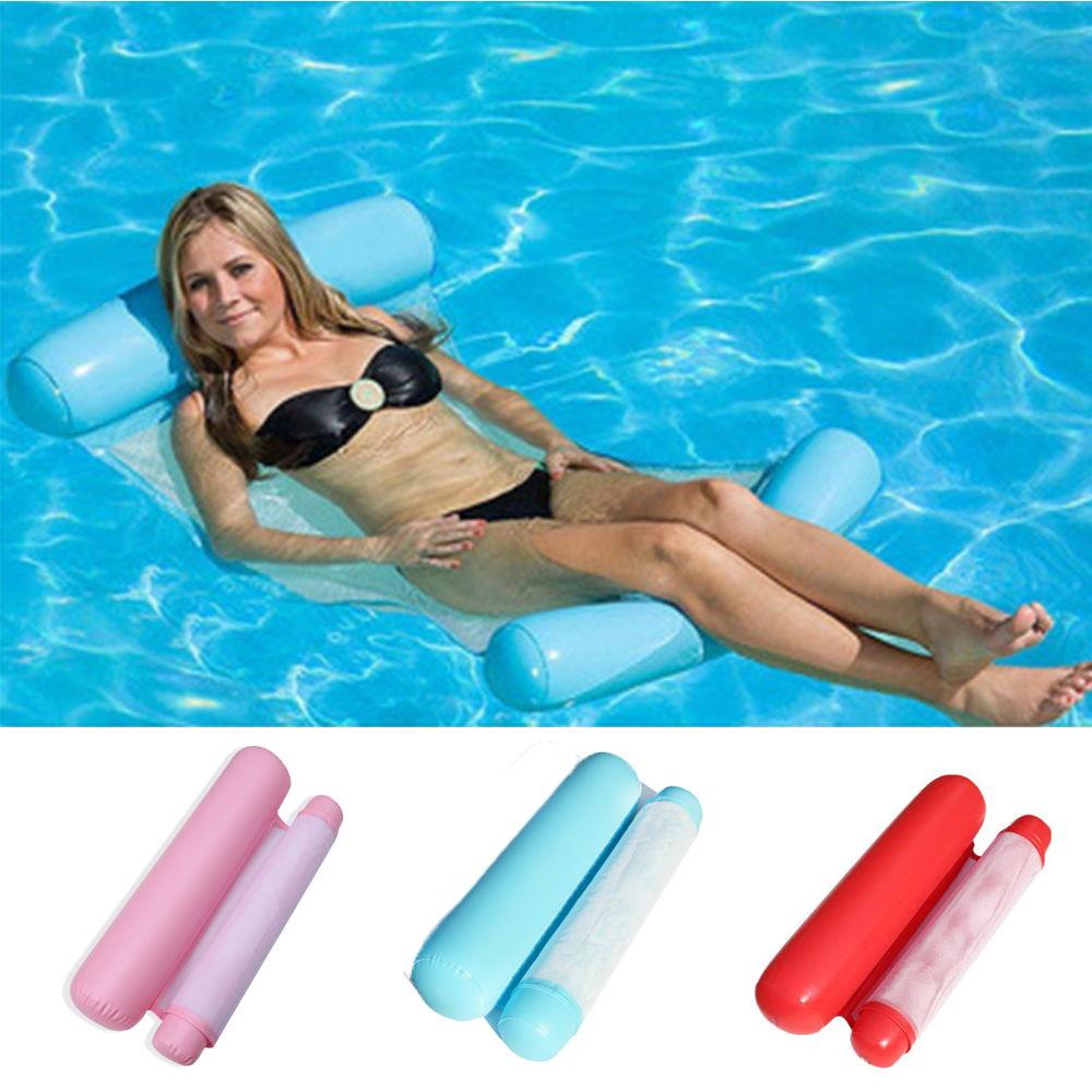 Water Hammock Recliner Inflatable Floating Swimming Mattress Sea Swimming Ring Pool Party Toy Lounge Bed For Swim Men Women