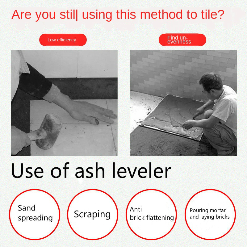Tools : 600 800 1000mm tile flat ash device flat sand Leveling Tiling Paving Tile Tool Artifact Collapsible for Auxiliary bricklayer