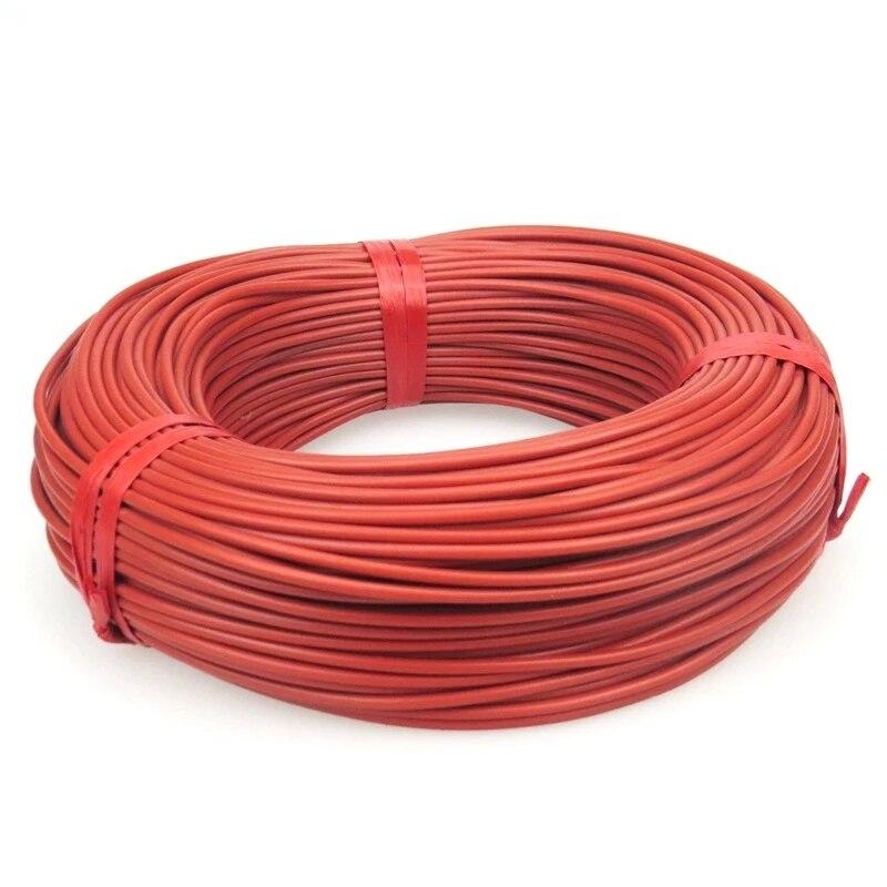 10 a 100 metros 12k piso quente aquecimento cabo 33ohm/m fios de aquecimento de fibra de carbono