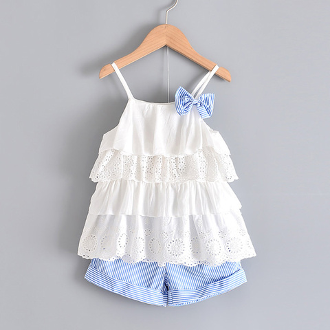 urso lider criancas roupas da menina 2020 moda estilingue flor arco bebe meninas camisa listra