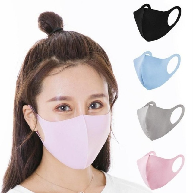 Washable  Adult Kids Mouth Mask Protective Outdoor Face Mask  Anti-flu Respirator Anti-PM 2.5 Mask