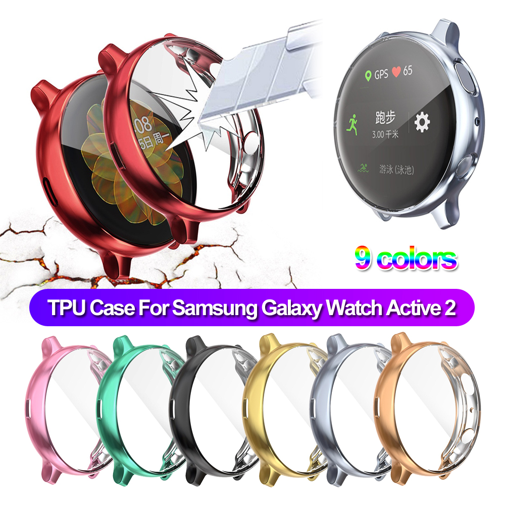 Hot Silicone TPU Protective Case For Samsung Galaxy Watch Active 2 40mm 44mm Soft Protection Cover For Galaxy Watch Active2 44mm