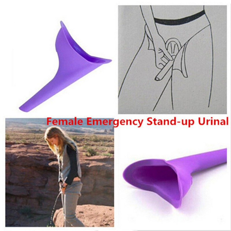 High Quality Portable Women Camping Urine Device Funnel Urinal Female Travel Urination Toilet Women Stand Up & Pee Soft Silicone