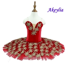 Red Professional Ballet Tutu Girls  Adult Swan Lake Costume Leotards Kid skirt Gymnastic Dancing Dress