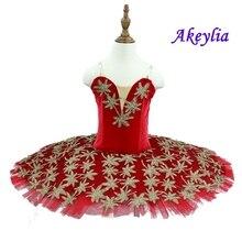 Red Professional Ballet Tutu Girls Adult Swan Lake Costume Ballet Leotards Kid Ballet skirt Gymnastic Dancing Dress