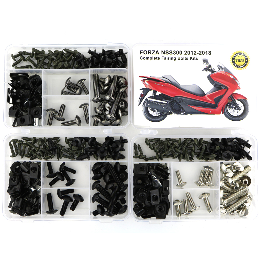 For Honda Forza NSS300 2012-2018 Complete Full Fairing Bolts Kit Clips Speed Nuts Bodywork Screws Cowling Bolts Steel