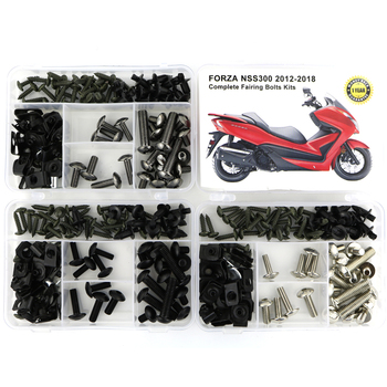 For Honda Forza NSS300 2012-2018 Complete Full Fairing Bolts kit Clips Speed Nuts Bodywork Screws Cowling Bolts Steel for honda cbr600rr cbr 600rr 2007 2008 2009 2010 2011 2012 motorcycle full fairing bolts kit screws bodywork fairing clips