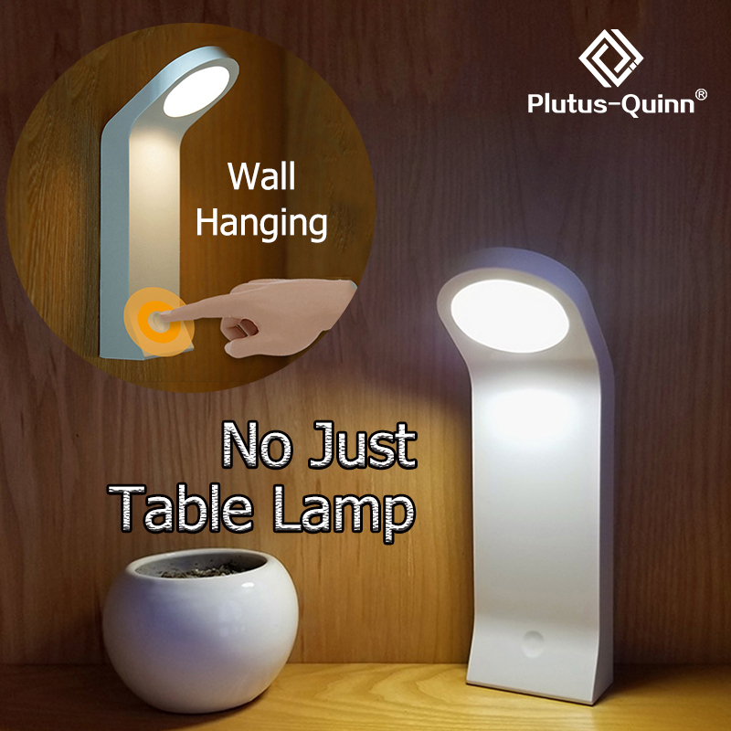 2020 Touch Switch 3 Modes Lighting Adjustable Brightness LED Desk Lamp Rechargeable Battery Eye Protection Reading Table Light