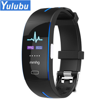 11.11 Color LCD P3 Smart Band ECG+PPG Blood Pressure Heart rate Monitor Pedometer Sport Bracelet for IOS Android IP67 waterproof