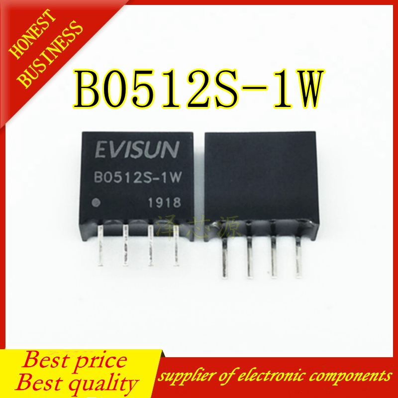 Free Shipping 5pcs New Original MORNSUN Isolated Power Module B0512S-1WR2 B0512S-1W B0512S SIP-4 DC-DC 5V Turn 12V