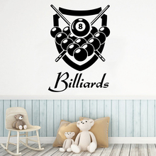 Personalized Billiards Wall Art Decal Decoration Fashion Sticker For Kids Rooms Wall Decal Home Decor adesivo de parede цена
